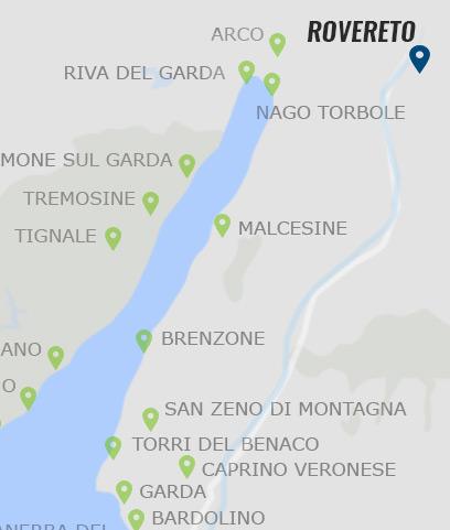 gardasee rovereto karte Rovereto • Informationen zu Rovereto am Gardasee »