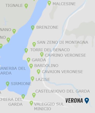 Verona Italien Karte.Verona Informationen Zu Der Stadt Verona Auf Gardasee At